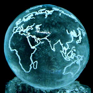 Globe Ice Sculpture