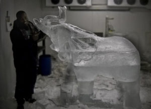 ice sculpture of Elephant