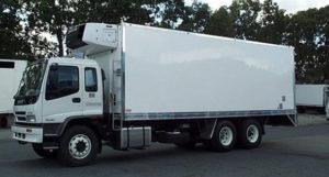 Freezer truck for ice sculptures