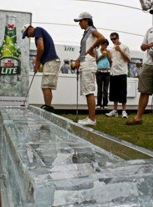 Ice sculpture golf