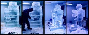Ice-sculpture making