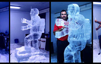 Ice-sculpture-making