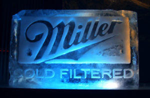 Miller Ice sculpture