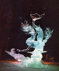 Mysterious Pearl Ice Sculpture